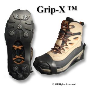 Grip-X Ice Cleats with Replaceable Spikes
