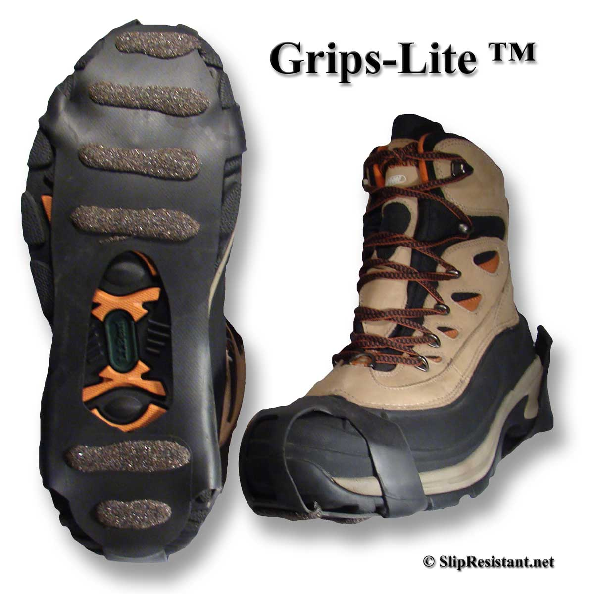 Winter Walking Grips-Lite JD3612 on Boots